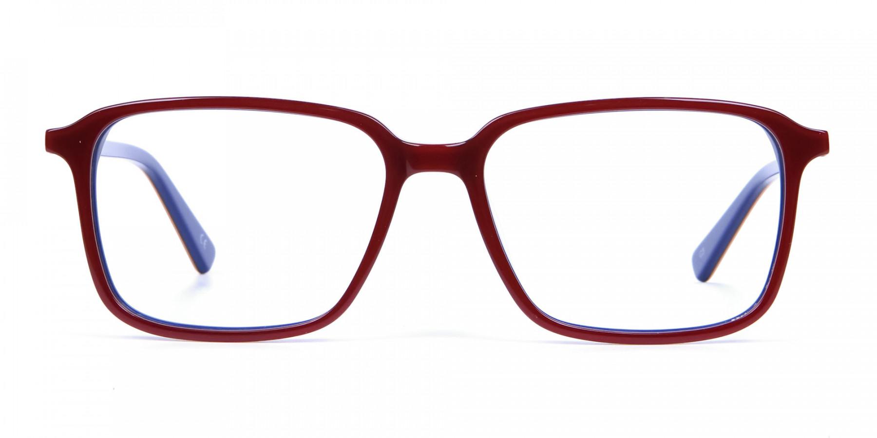 Wayfarer Designer Blue Red Eyeglasses