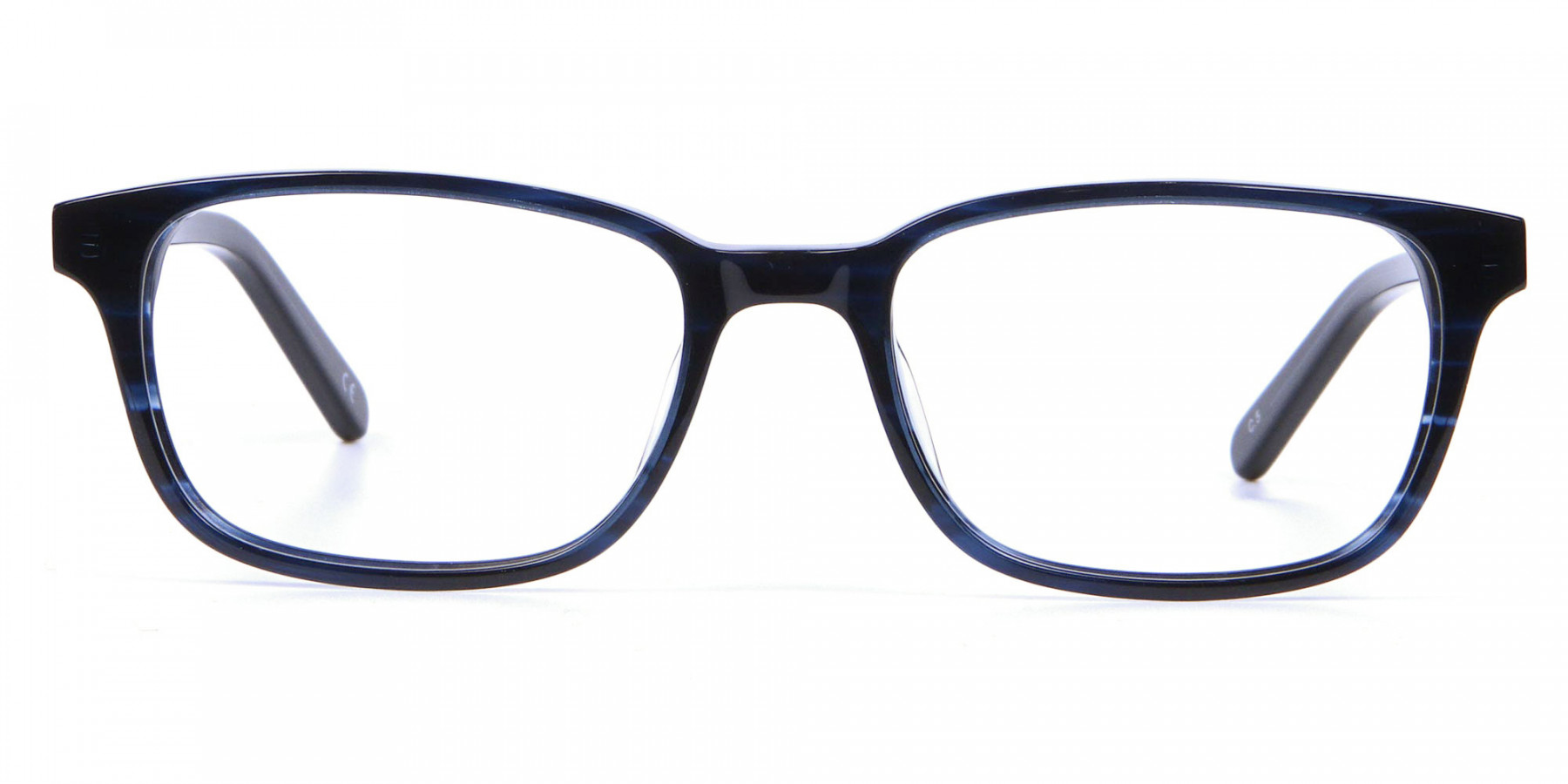 Designer Blue Rectangular Glasses