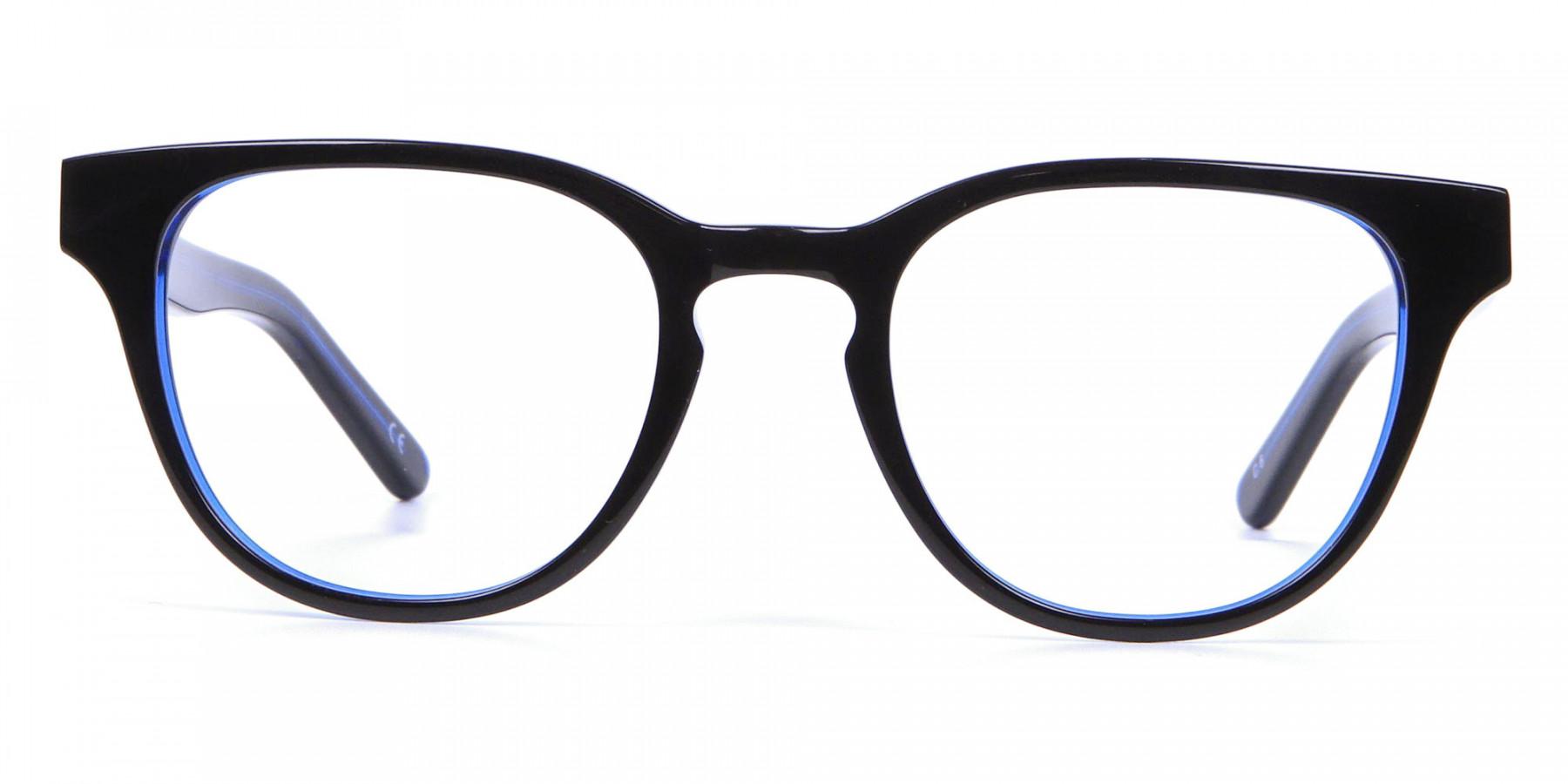 Cat Eye and Wayfarer Glasses in Blue