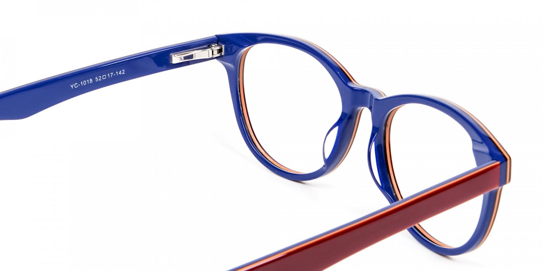 Mahogany & Navy Blue Frames