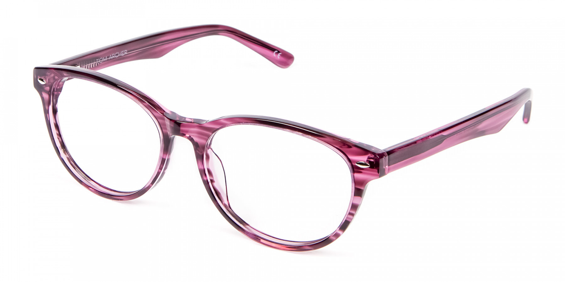 Wooden Plum Coloured Eyeglasses