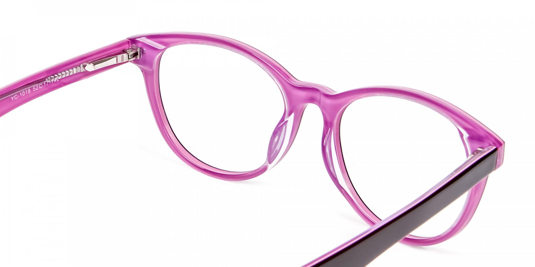 High Volume Electric Pink & Black Frames
