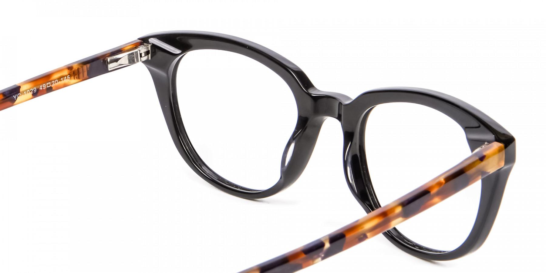 Tortoiseshell and Black Cat Eye Style