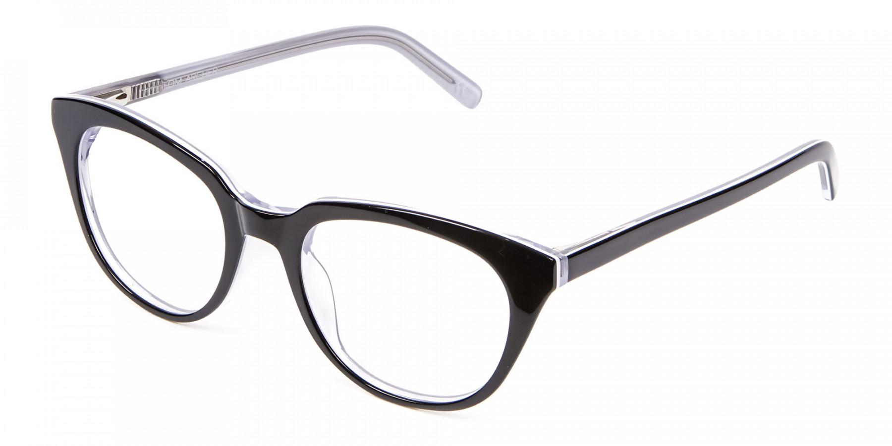 Black and White Combo Super Wild Cat Eye Frame