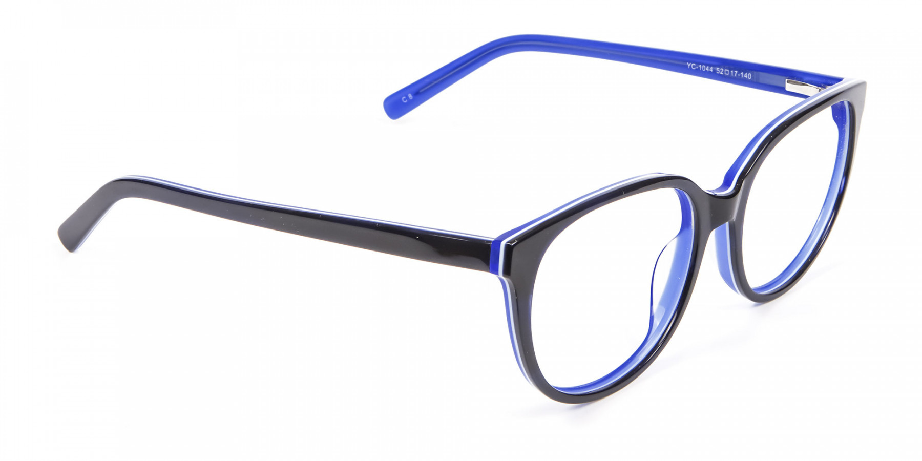 Black and Royal Blue Cat Eye Frame