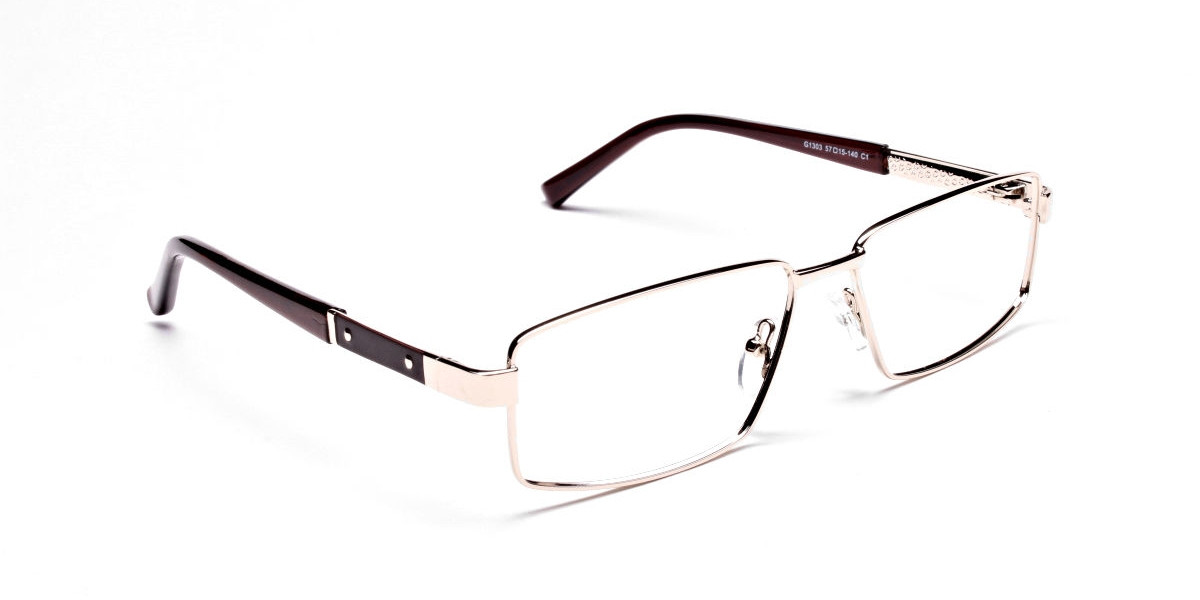 Rectangular Gold & Brown Frames -1