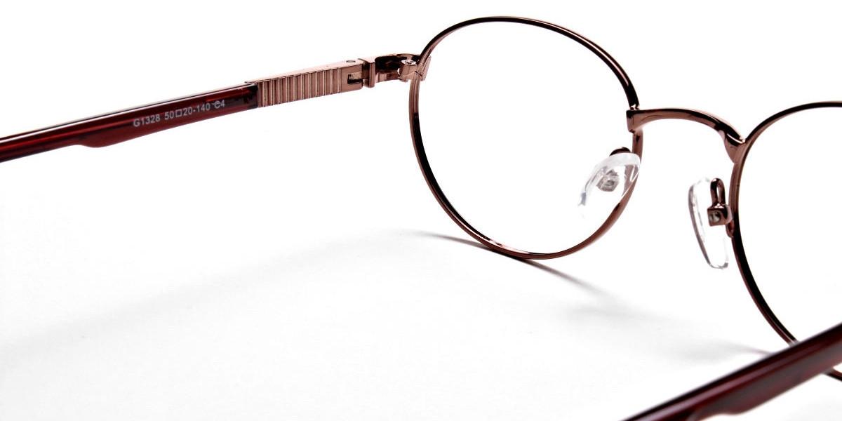Round Glasses in Brown, Eyeglasses -1