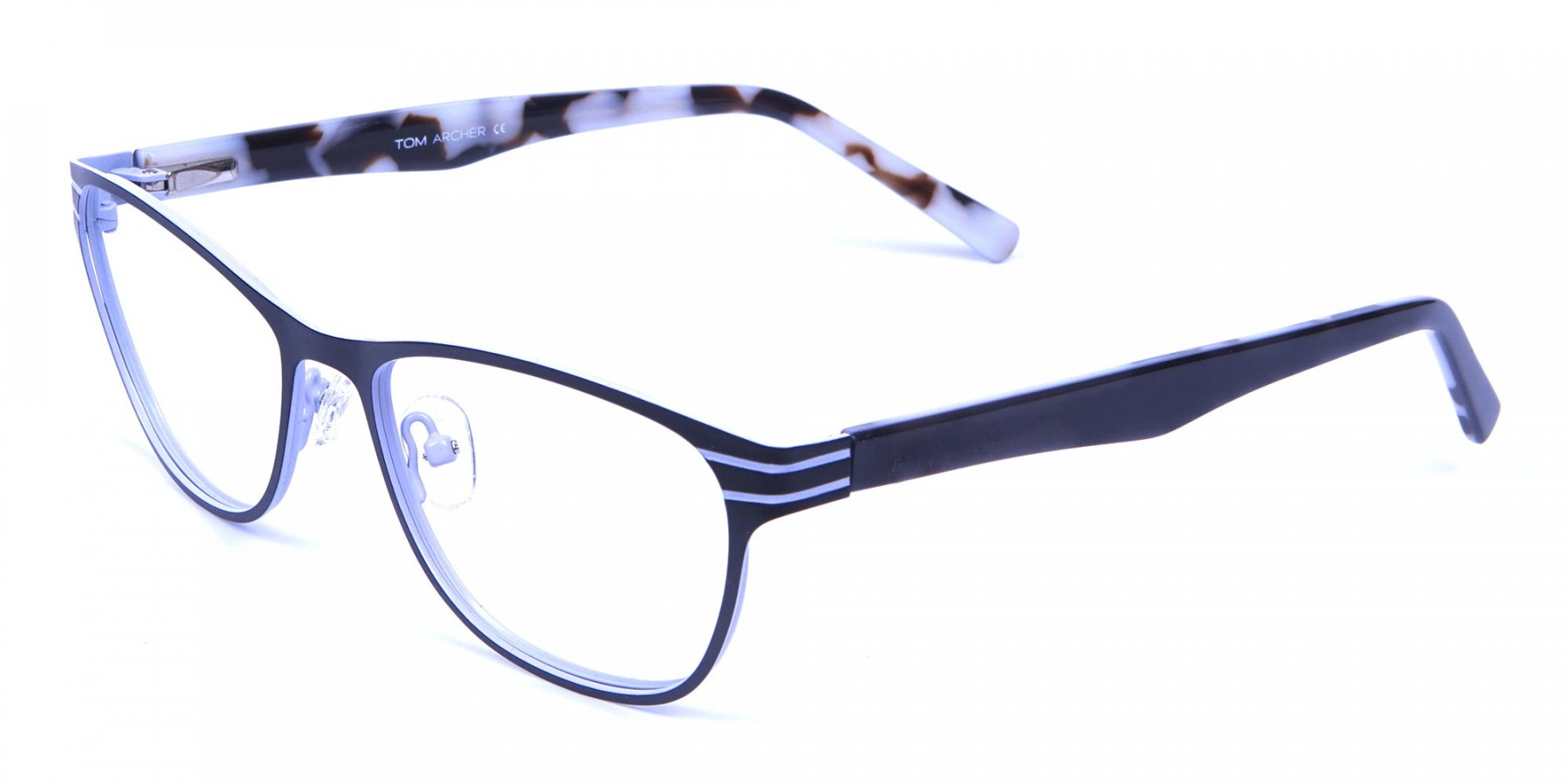 Back and White Cat Eye Glasses Perfection