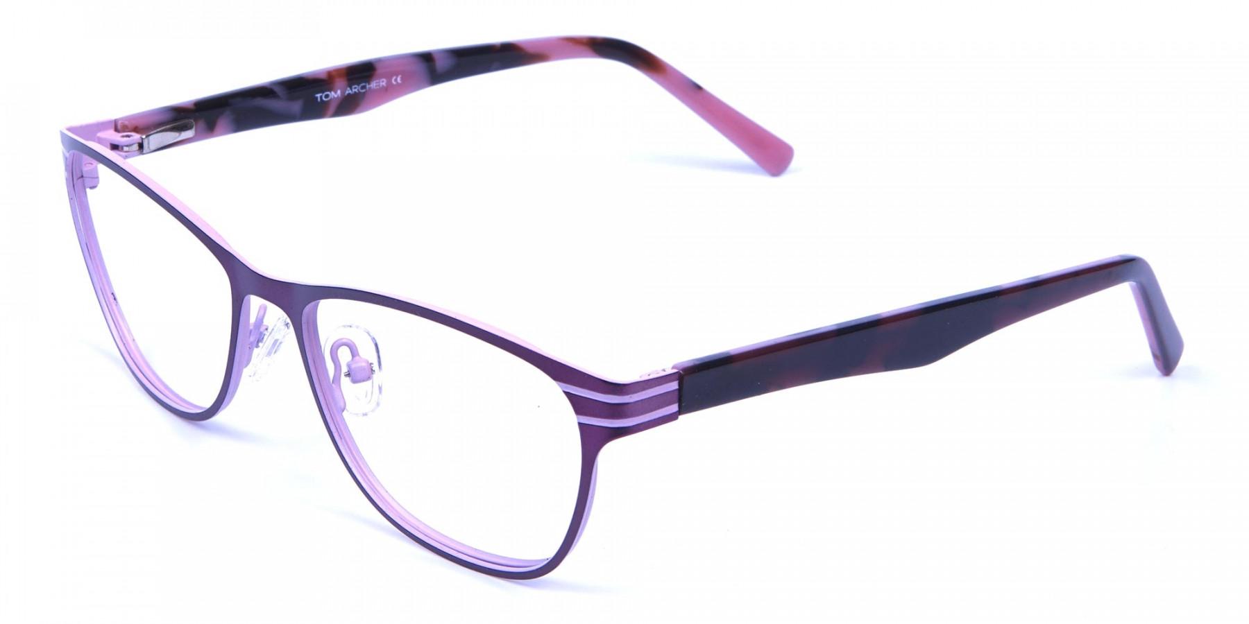 Pink & Black Cat Eye Glasses