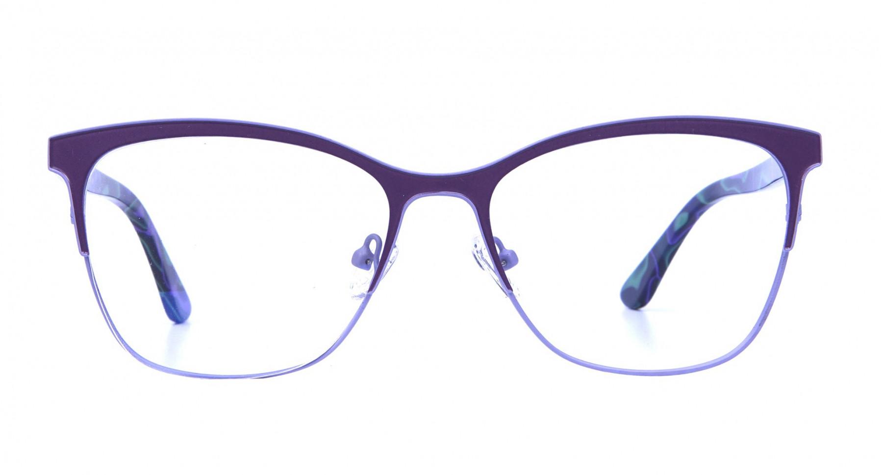 Violet & Aurora Green Dual Tone Glasses