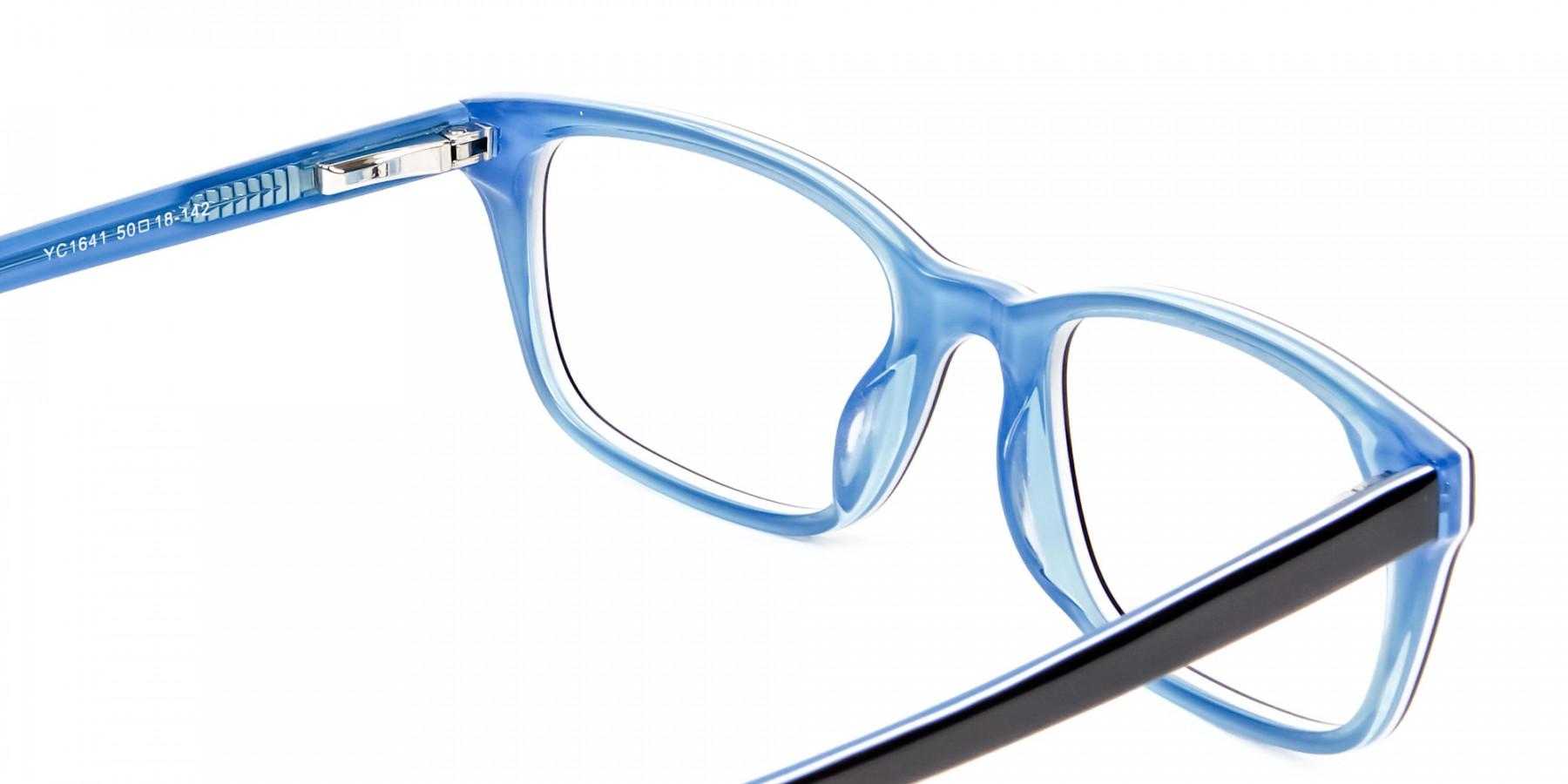 Striking Blue Eyeglass Frames -1