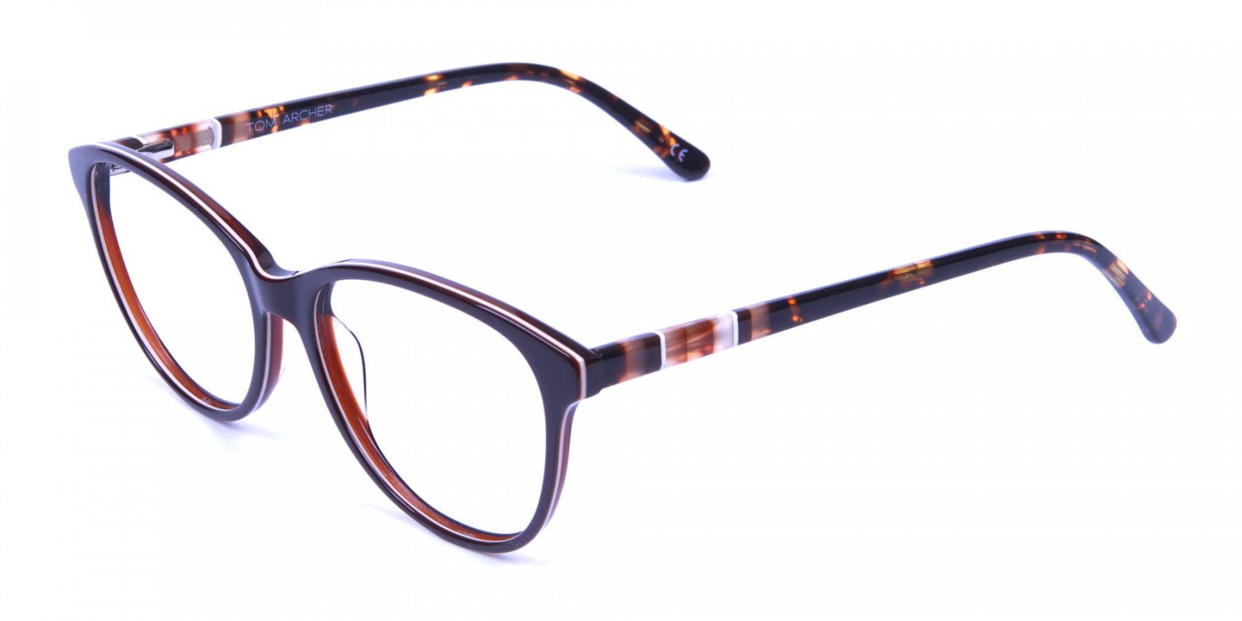 Brown and Tortoiseshell Pattern Glasses