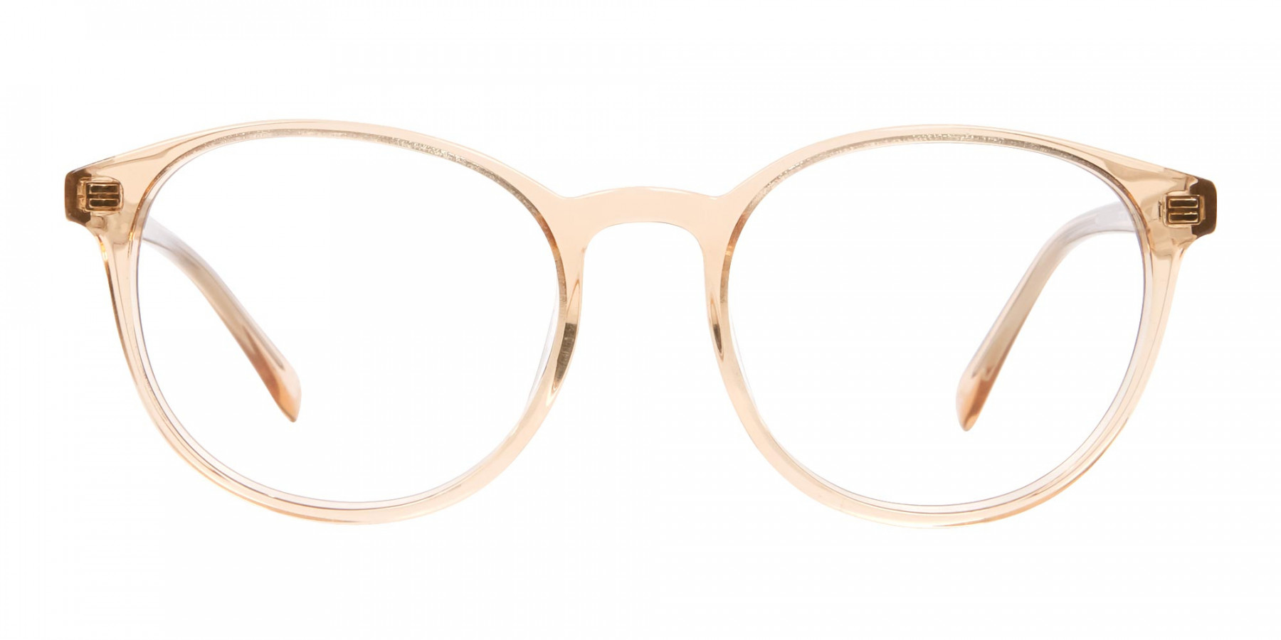 Round Crystal Amber Glasses Online for Men and Women UK - 1