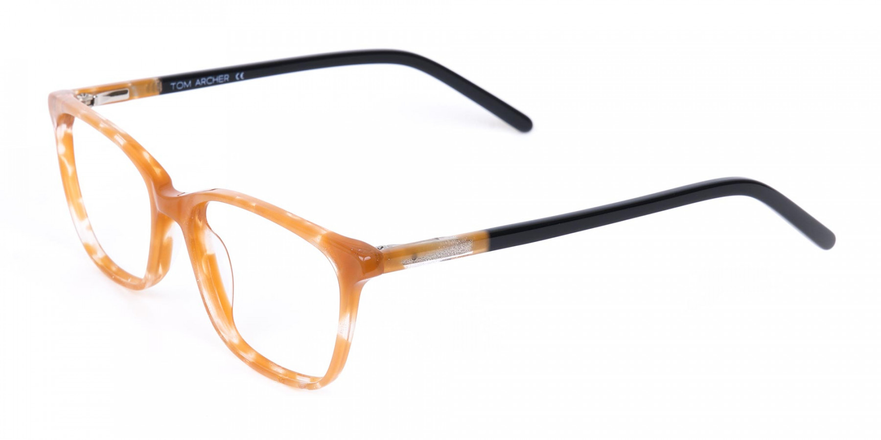 Brown Sparkle Apricot Nude Black Eyeglasses-1