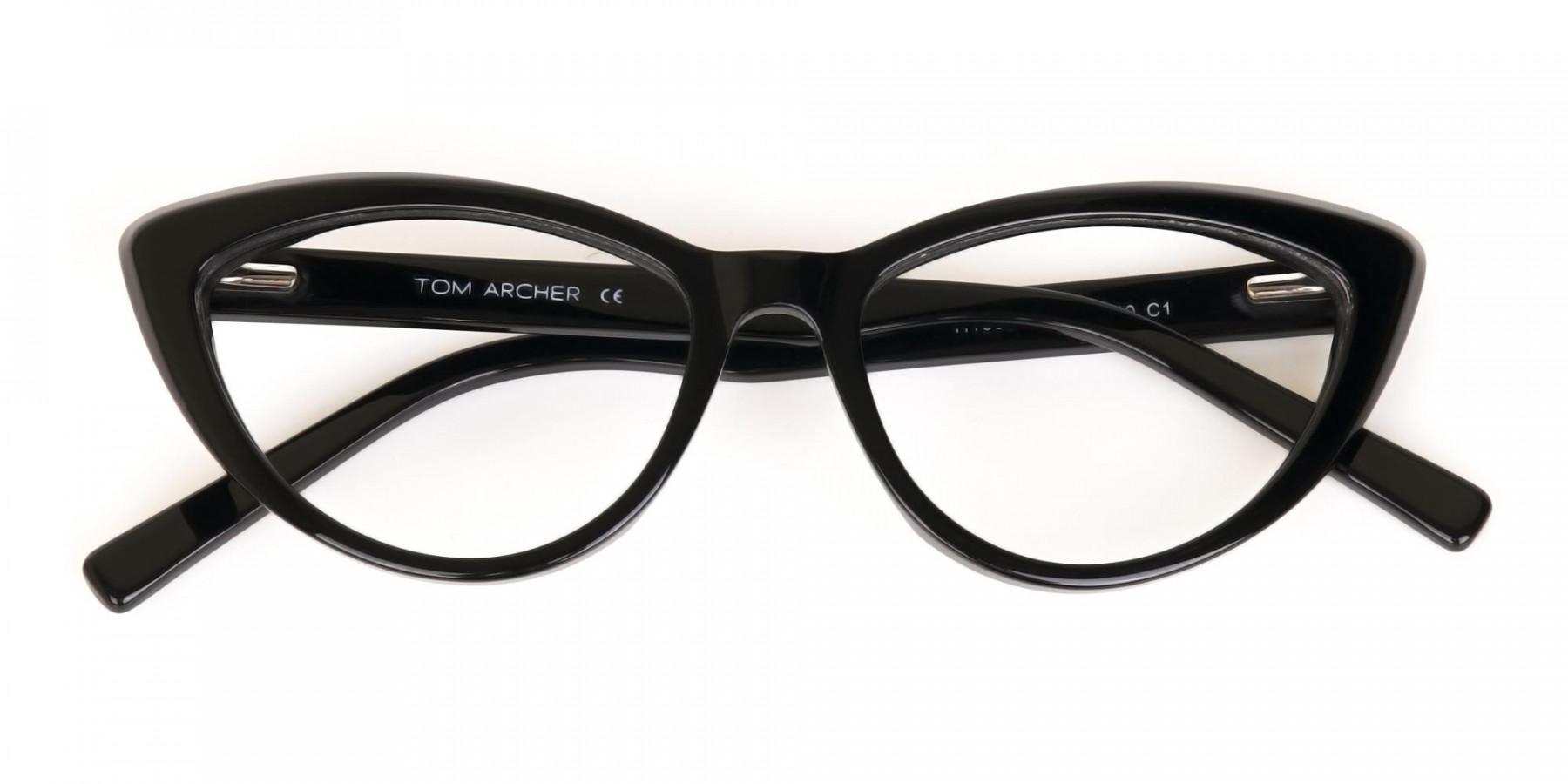 Black Cat Eye Glasses Frame For Women-1