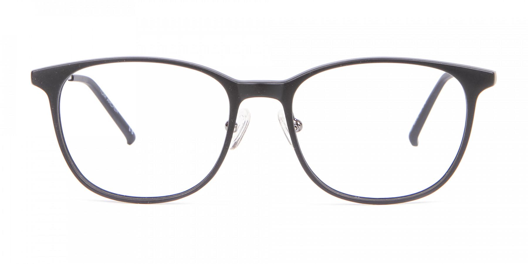 Matte Black Round Glasses, Eyeglasses