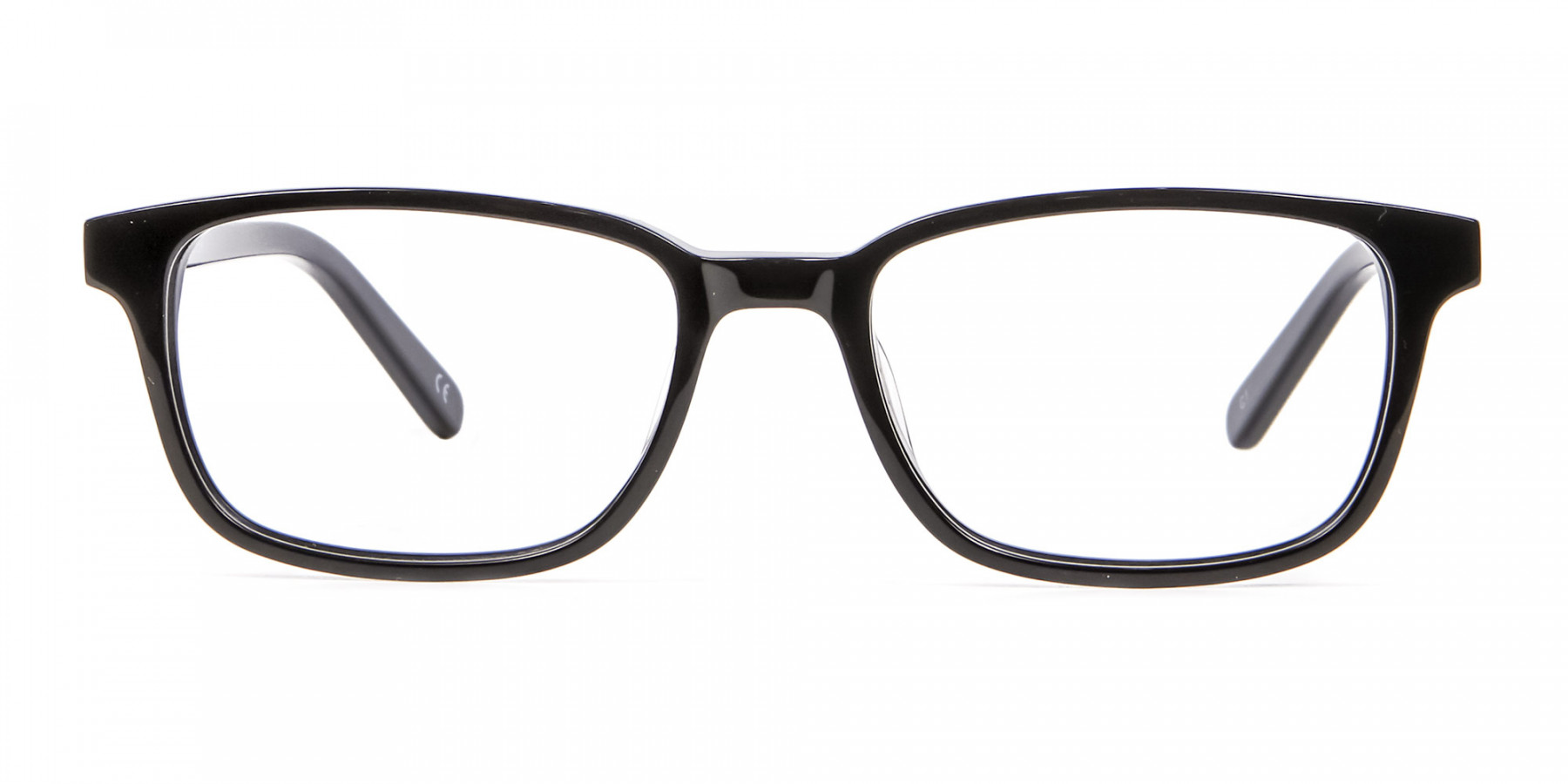 Rectangle Black Glasses for Round Face