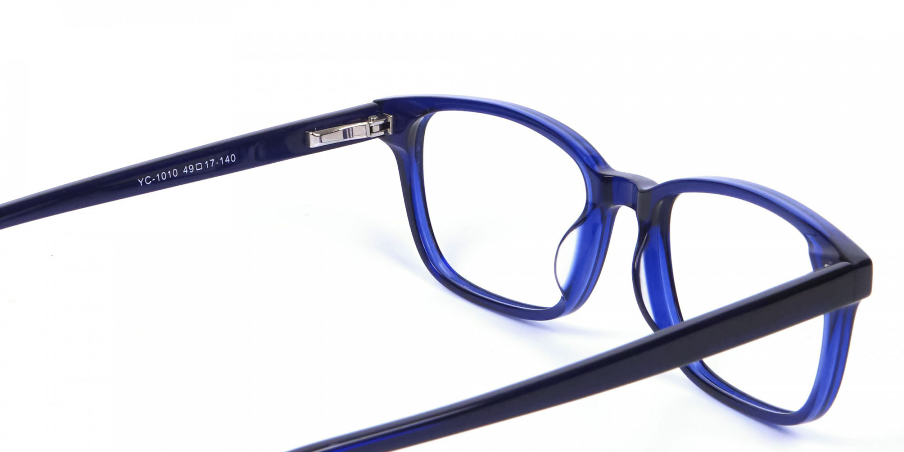 Men's and Women's Blue Rectangular Glasses