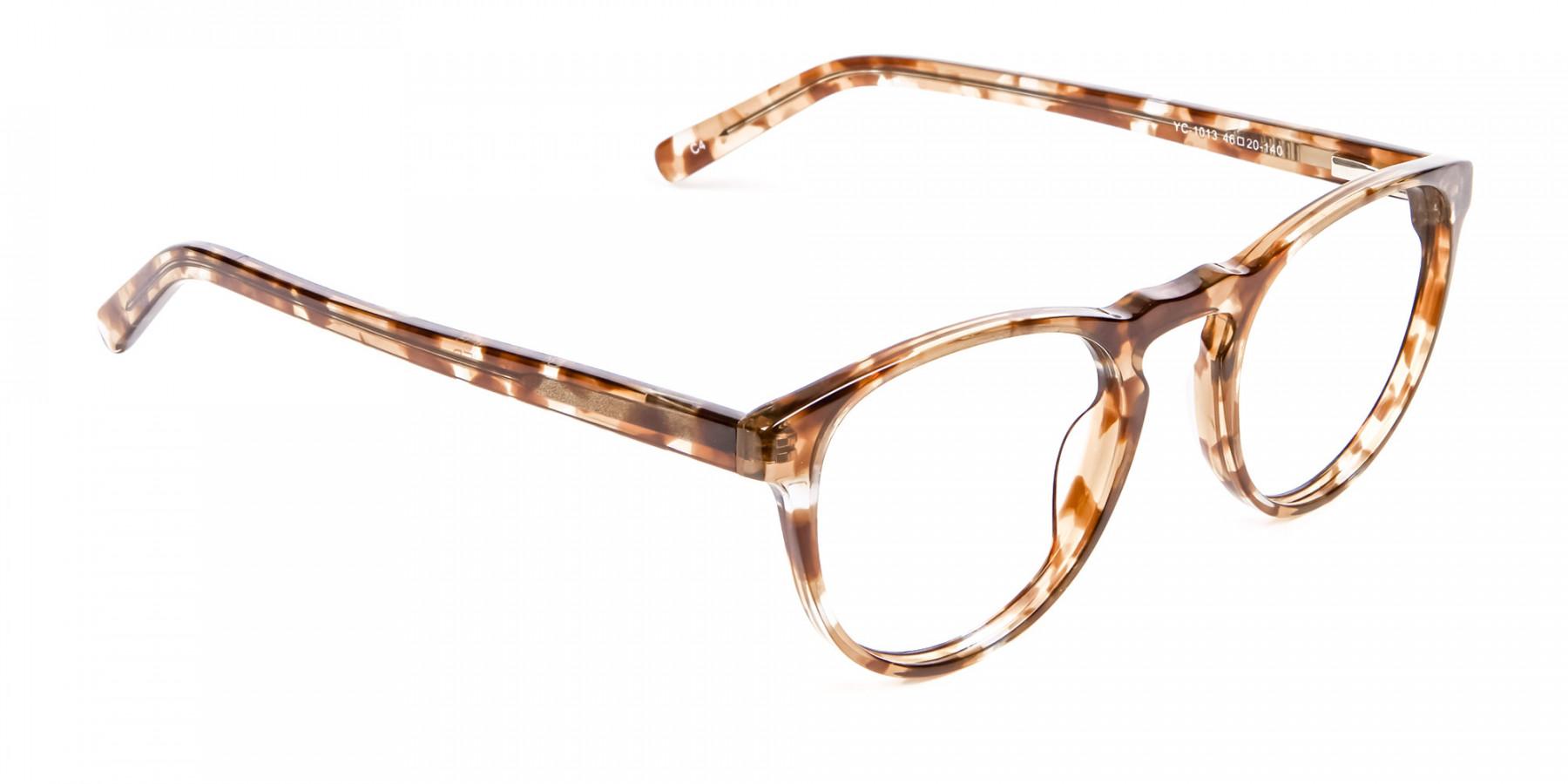 Round Glasses in Maple Havana -1