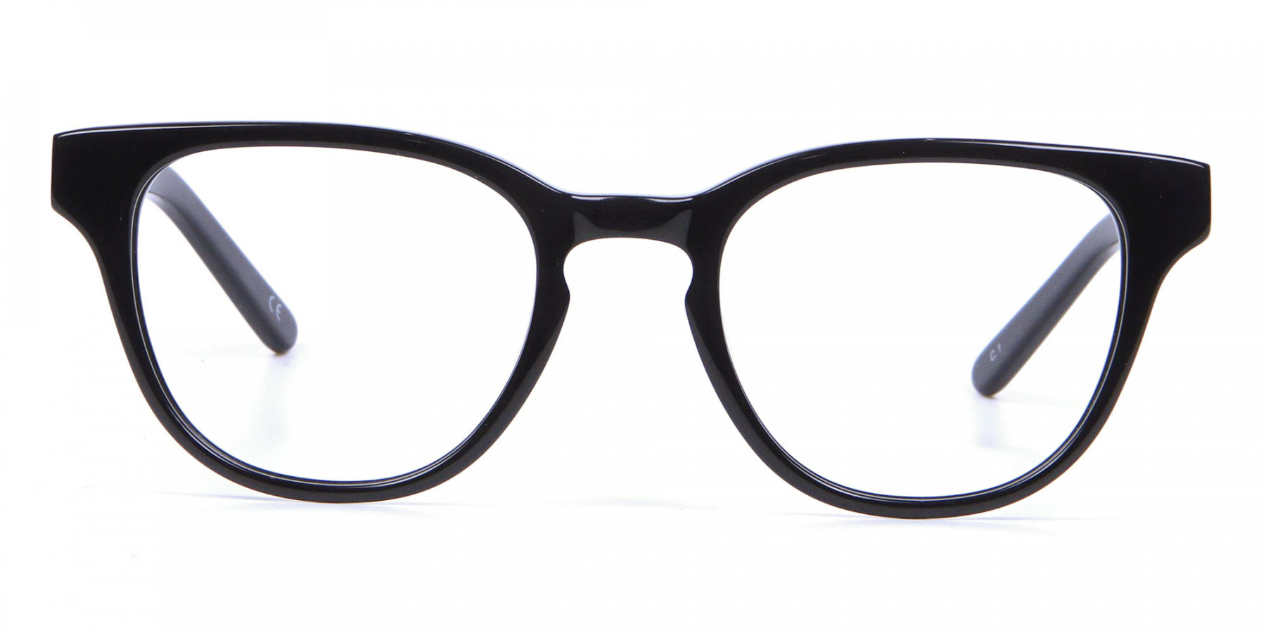 Thick Line Detailed Glasses in Black