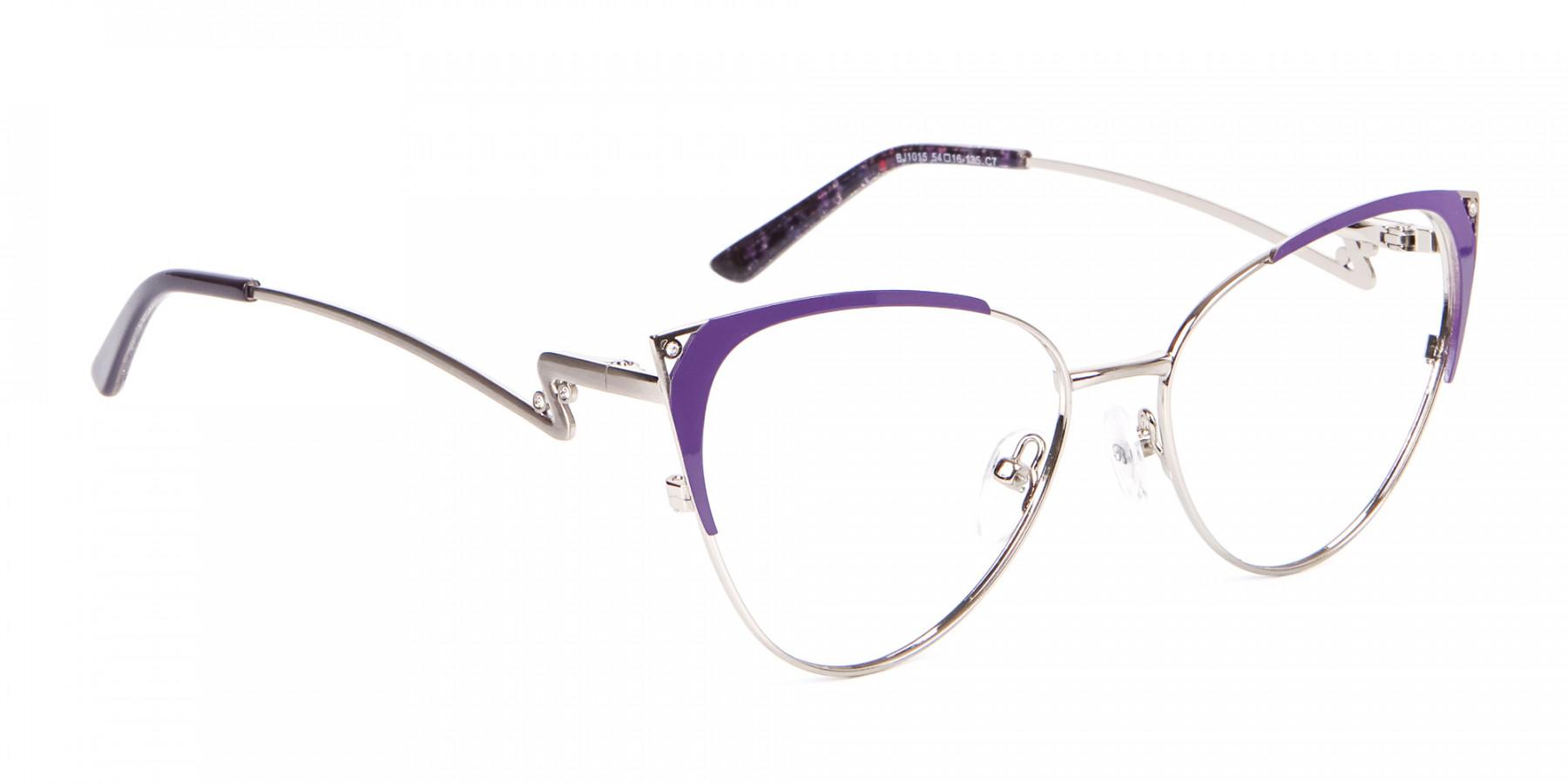 Purple Vintage Inspired Frame, Designer Glasses-1