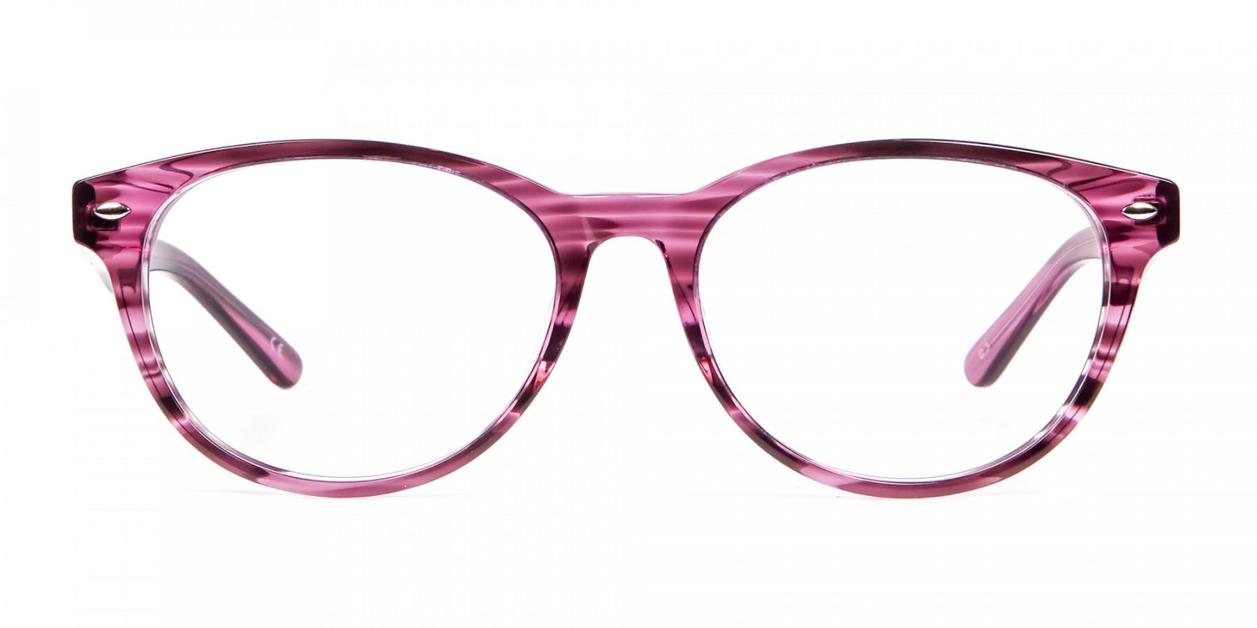 Wooden Plum Coloured Eyeglasses
