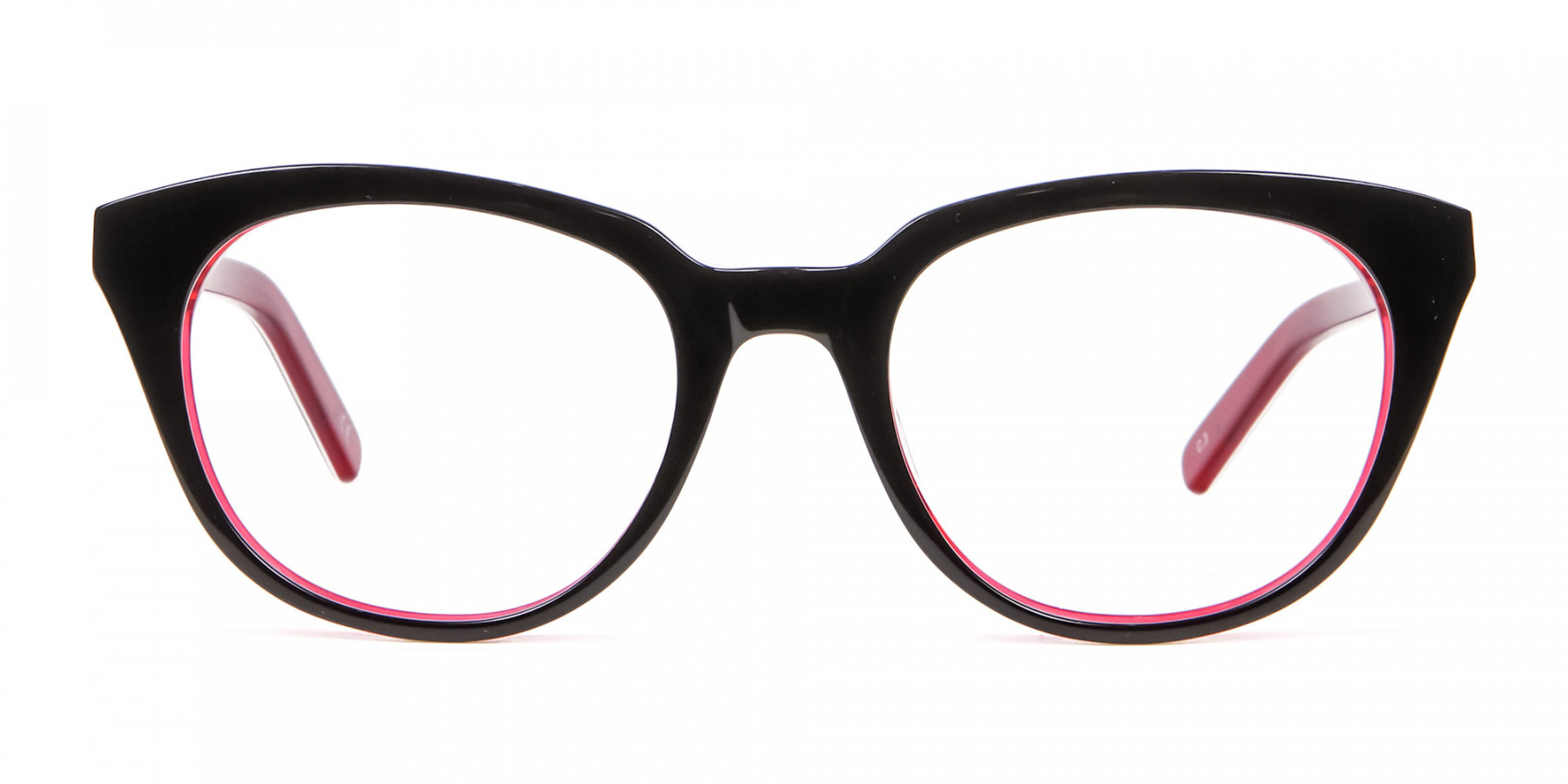 Fresh Look Cat Eye Glasses with Red and Black