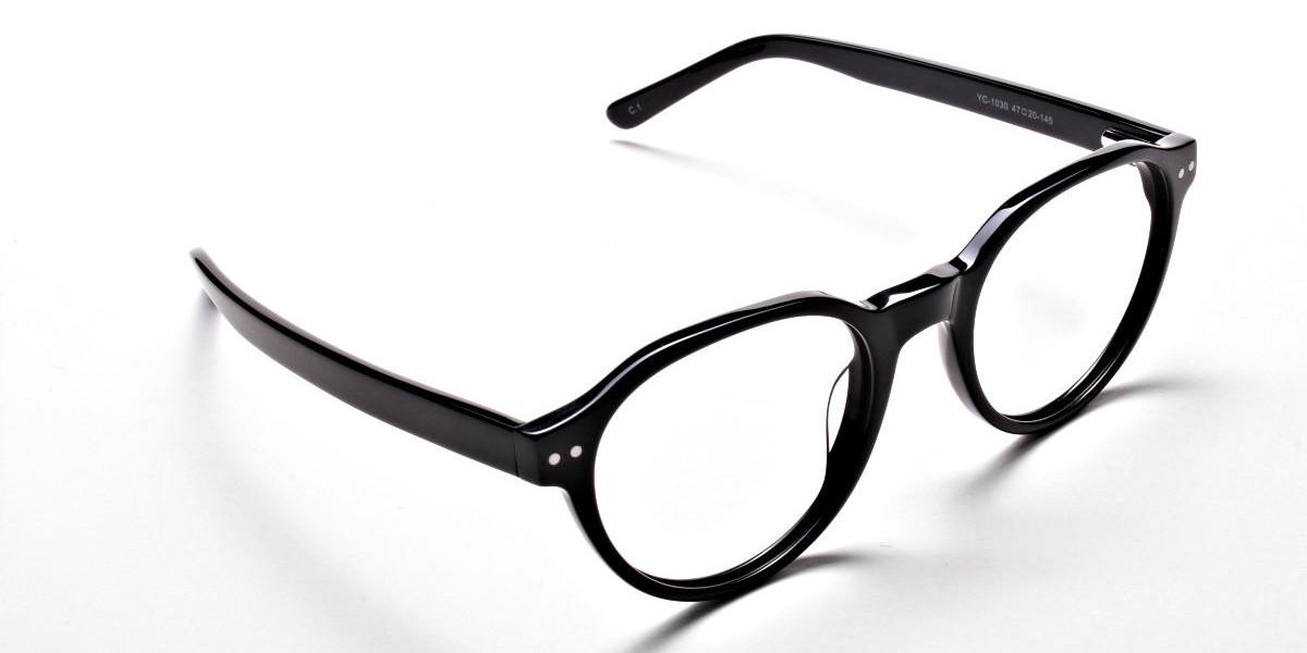 Smart Black Round Eyeglasses
