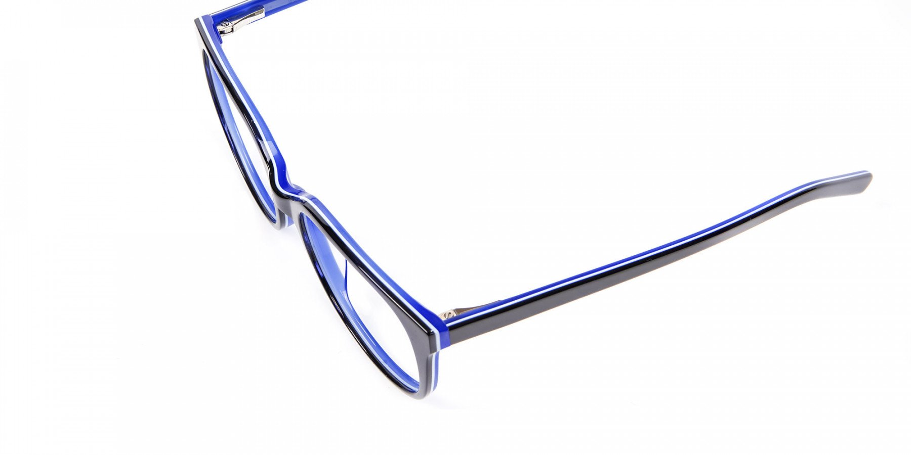Black and Royal Blue Cat Eye Frame