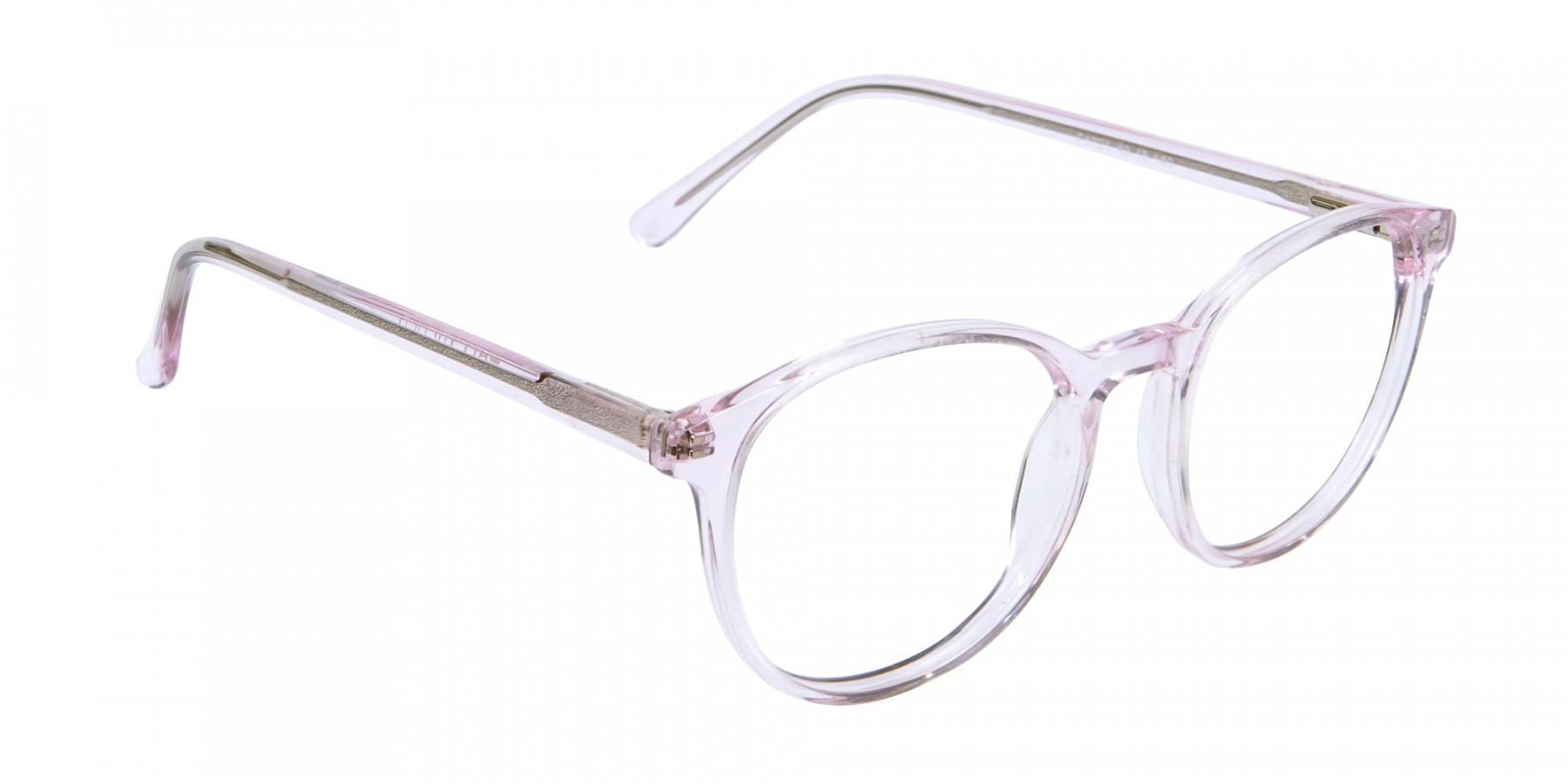 Round Pinky Crystal Glasses - 1