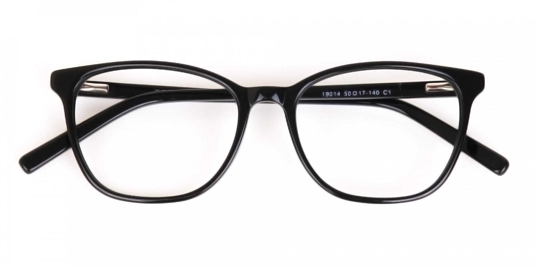 Black Wayfarer Acetate Eyeglasses Unisex-1
