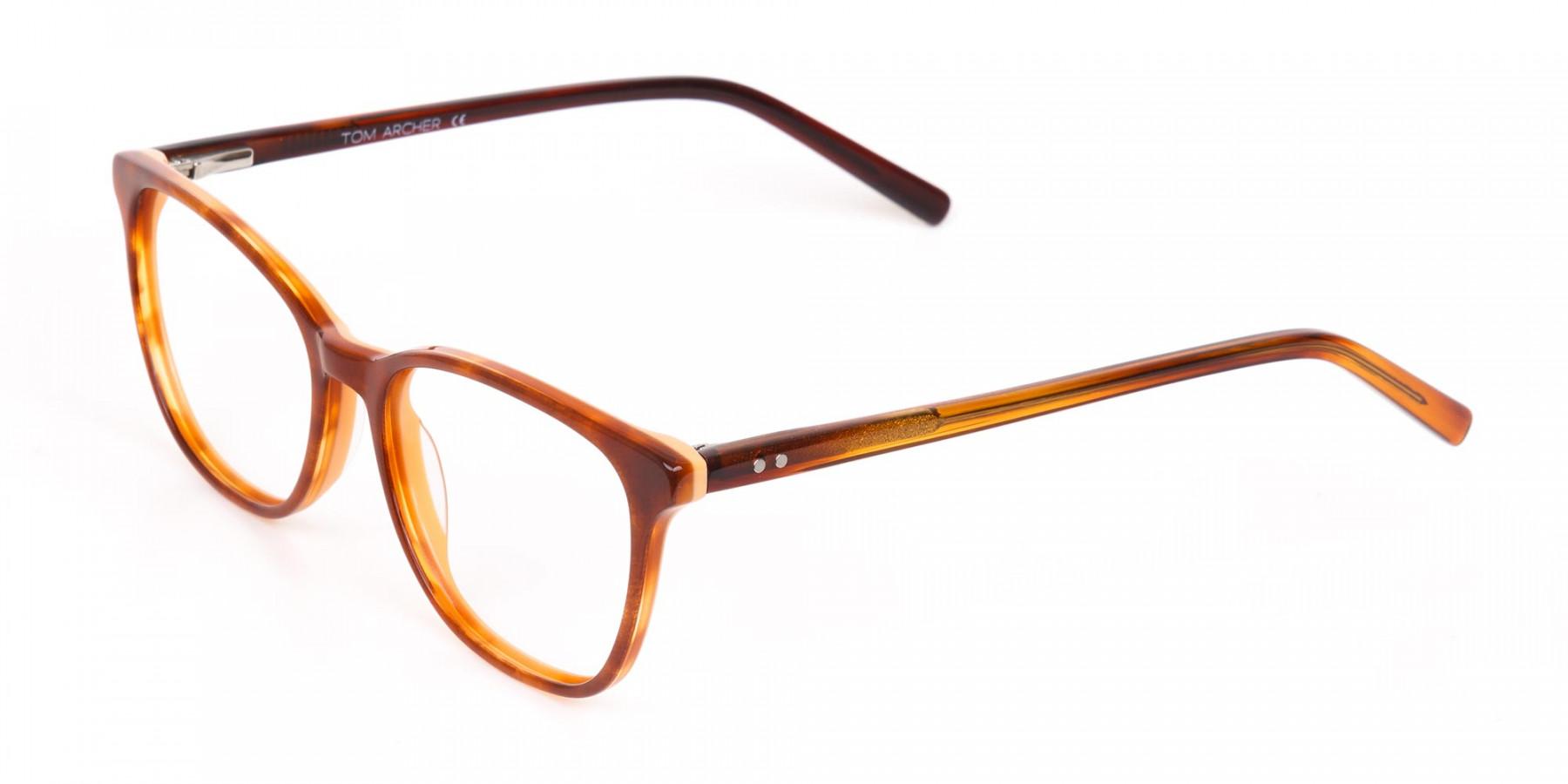 Caramel Brown Wayfarer Acetate Eyeglasses-1