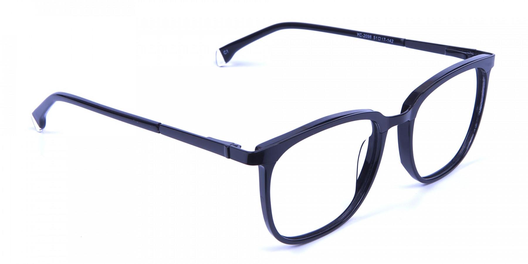 Wayfarer & Square Black Glasses