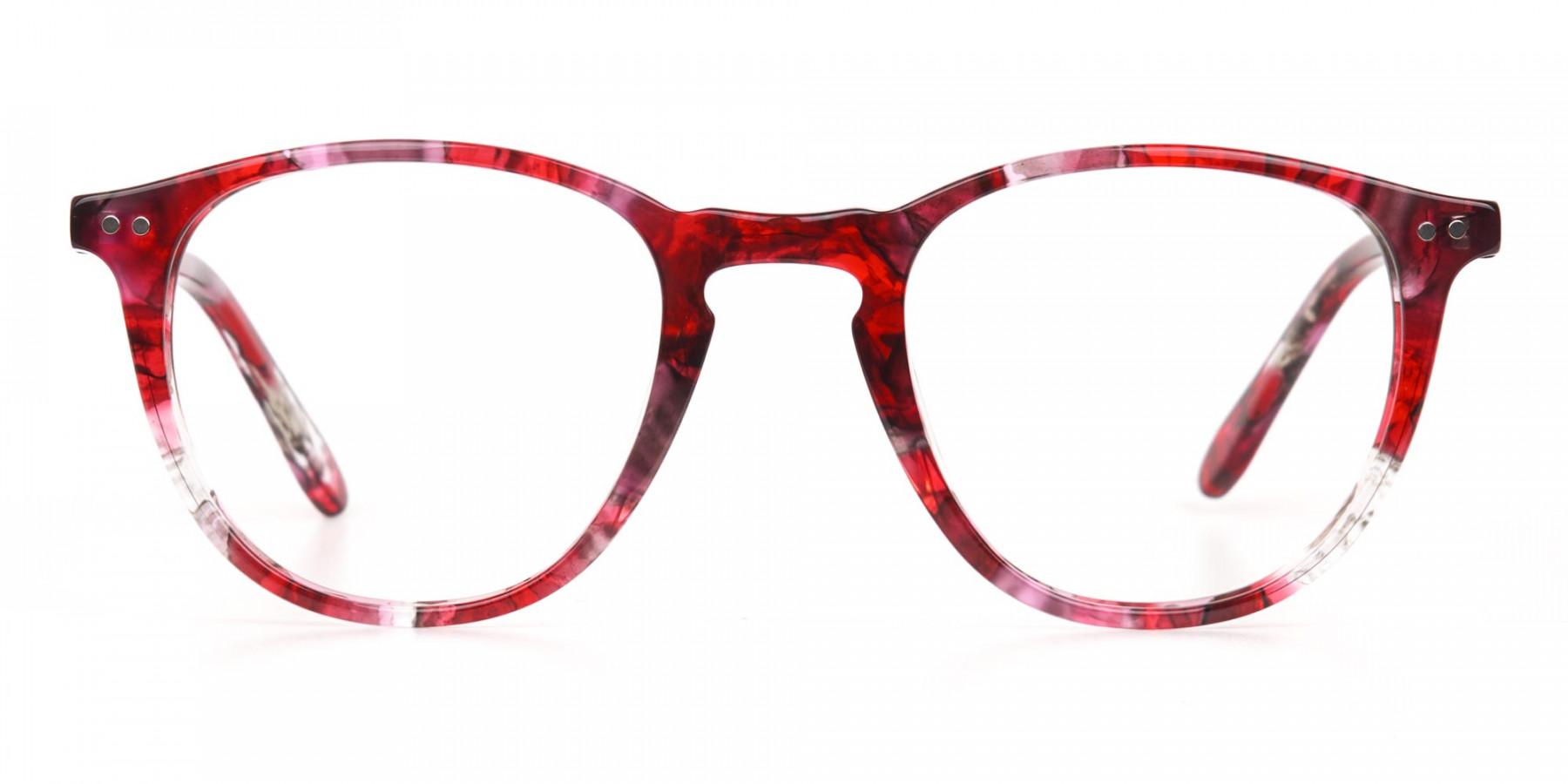 Rose Red Marble Wayfarer Glasses Men Women-1