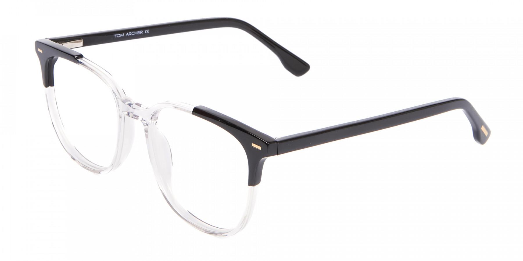 Geek Chic Wayfarer Frame Black & Translucent - 1