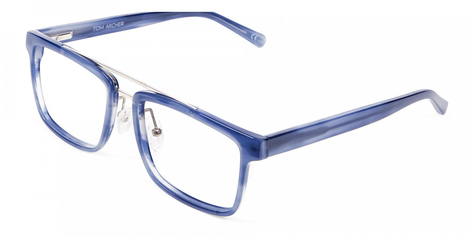 Icy Blue Rectangular Frames