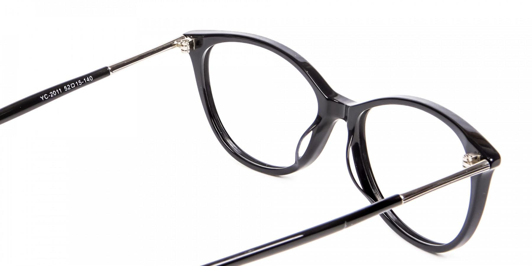 Cool Black Cat Eye Glasses -1