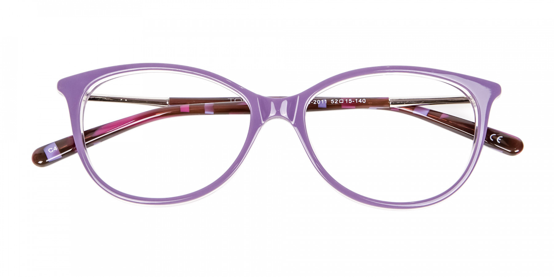 Rosy Purple Cat Eye Glasses -1