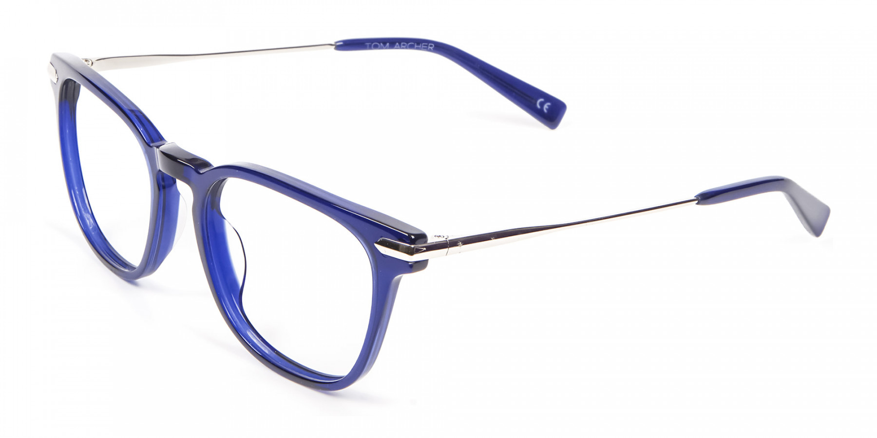 Luxurious Look Navy Blue Glasses