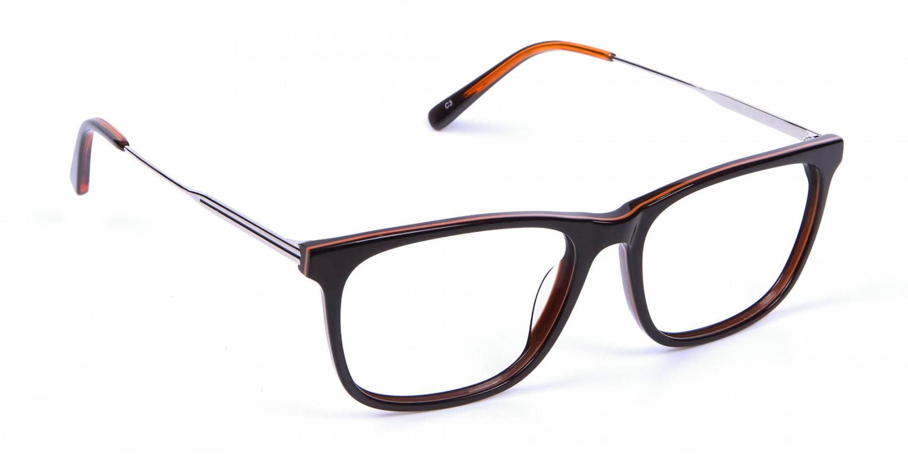 Colour Mixed Rectangular Glasses - 1