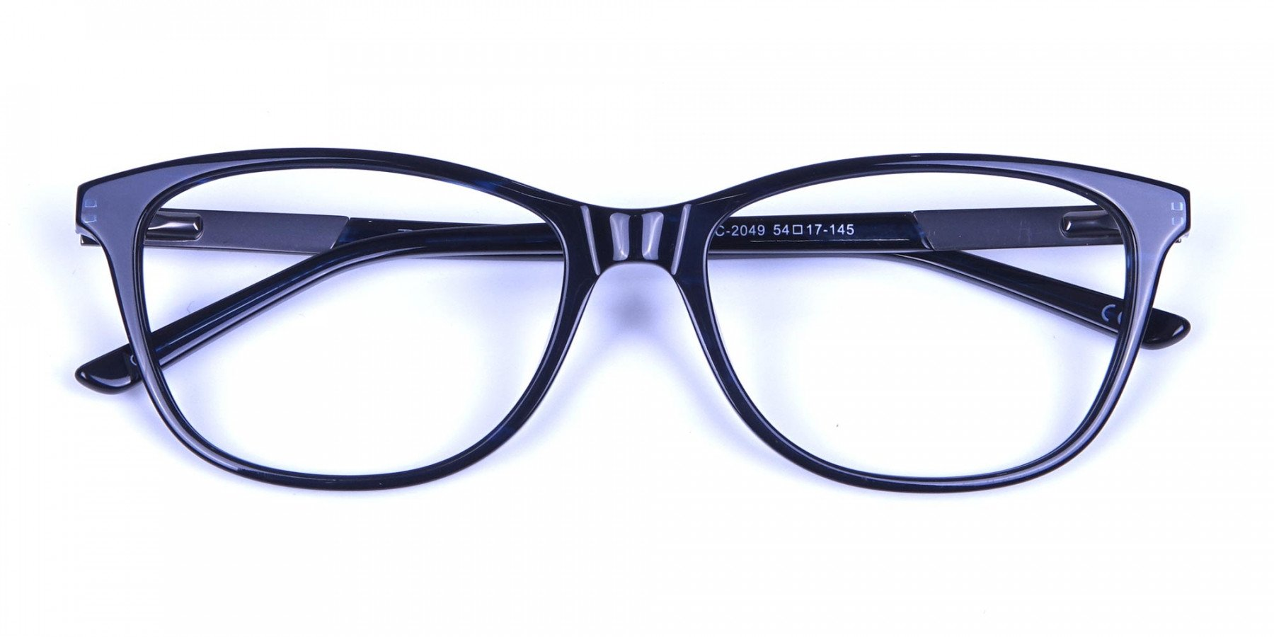 Cat Eye Glasses with Mix Material