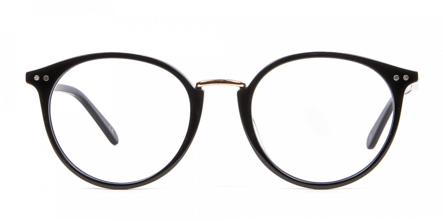 Round Glasses in Black