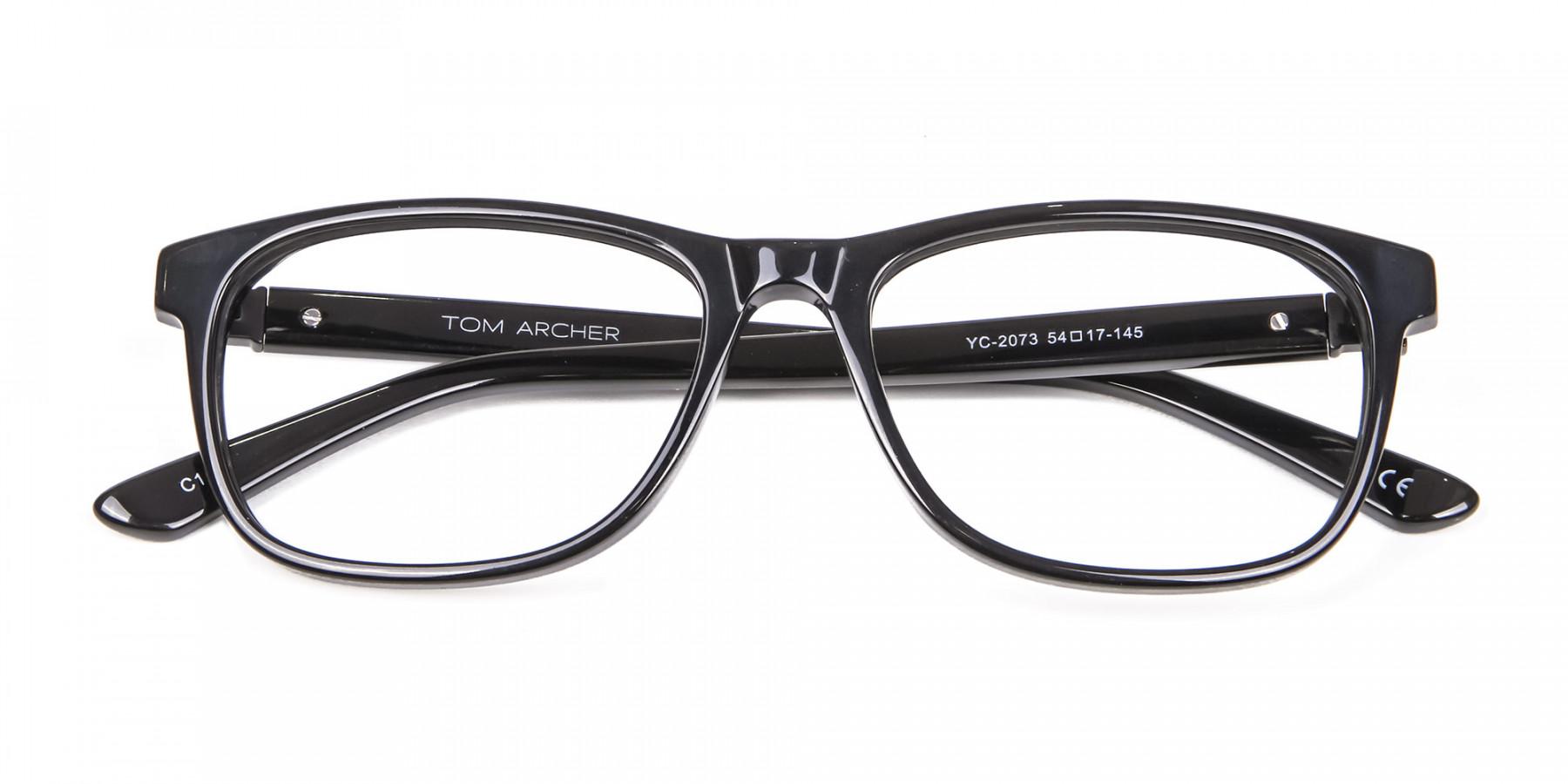 Black Simplicity Wayfarer Glasses