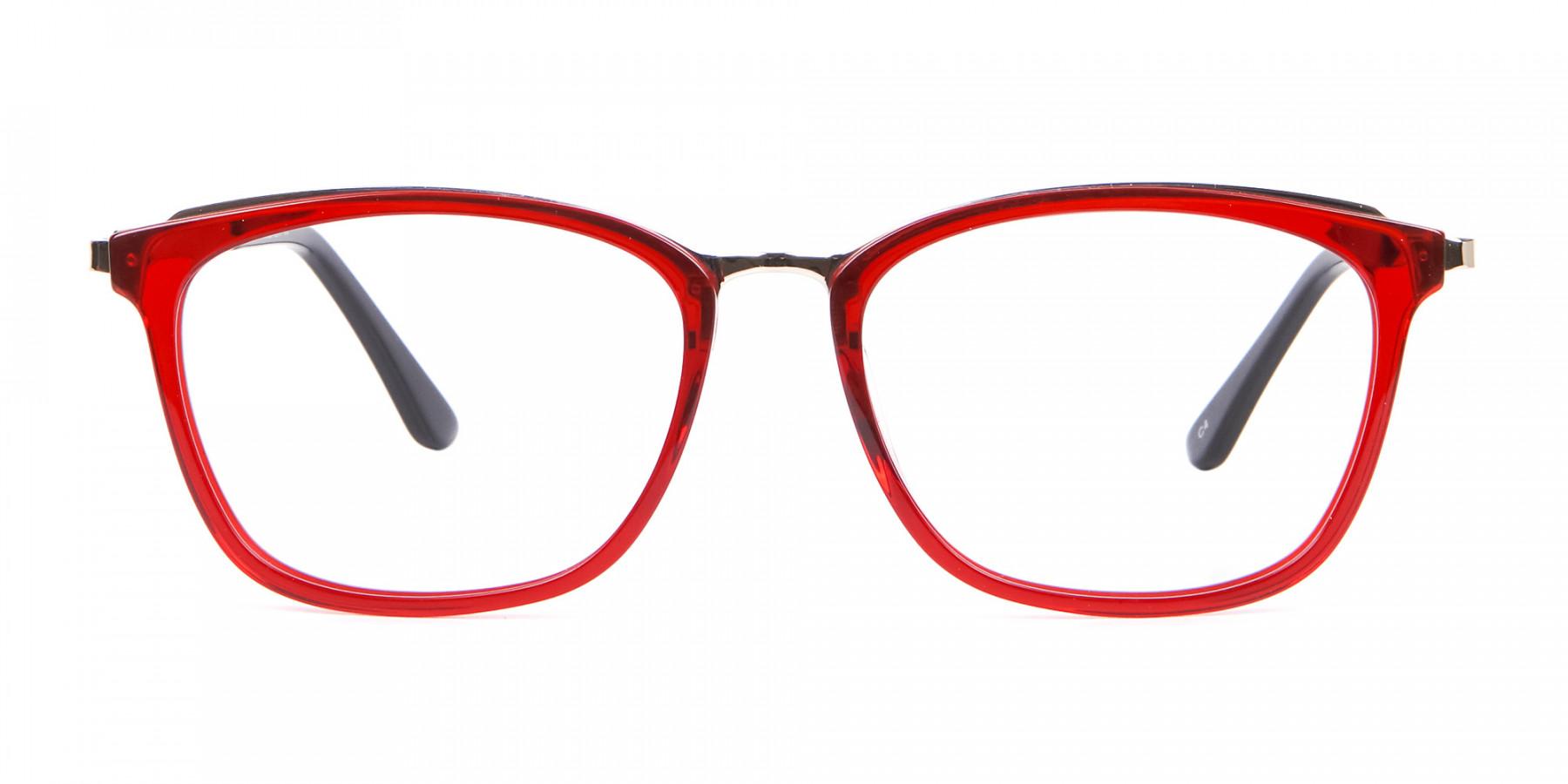 Material Mix Red Wayfarer Frame, Online UK-1