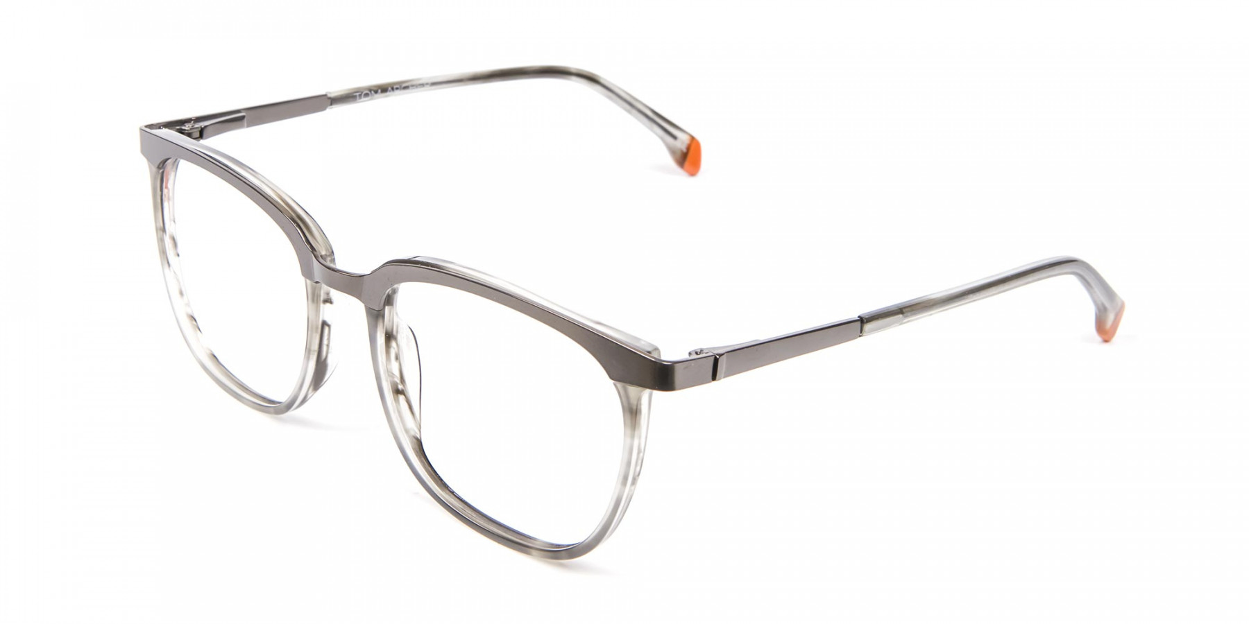 Silver Grey Square Glasses