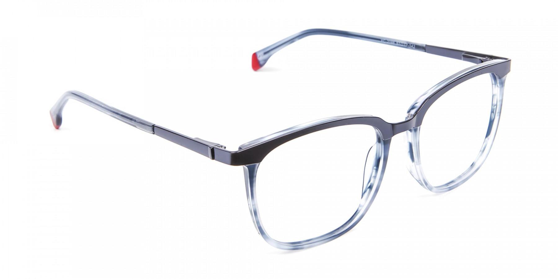 Smoky Blue Framed Glasses