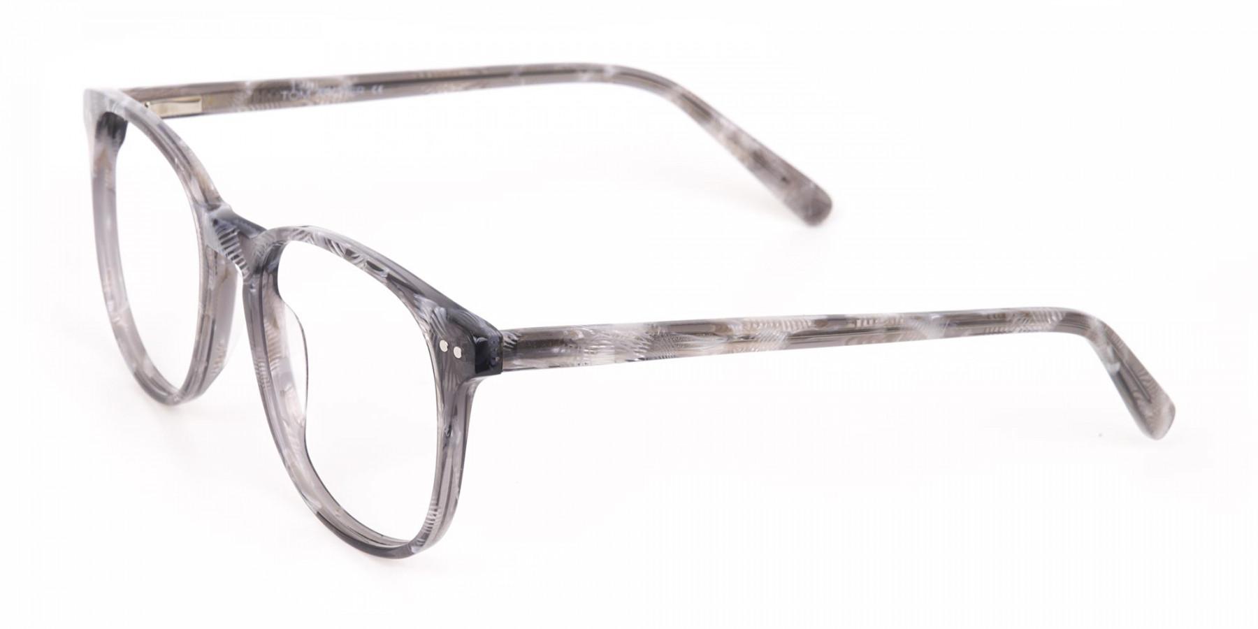 Silver Grey Wayfarer glasses Acetate Unisex-1