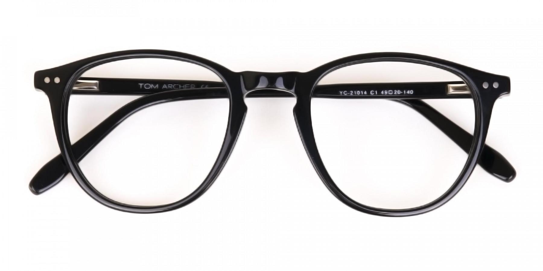 Black Acetate Wayfarer Glasses Unisex-1