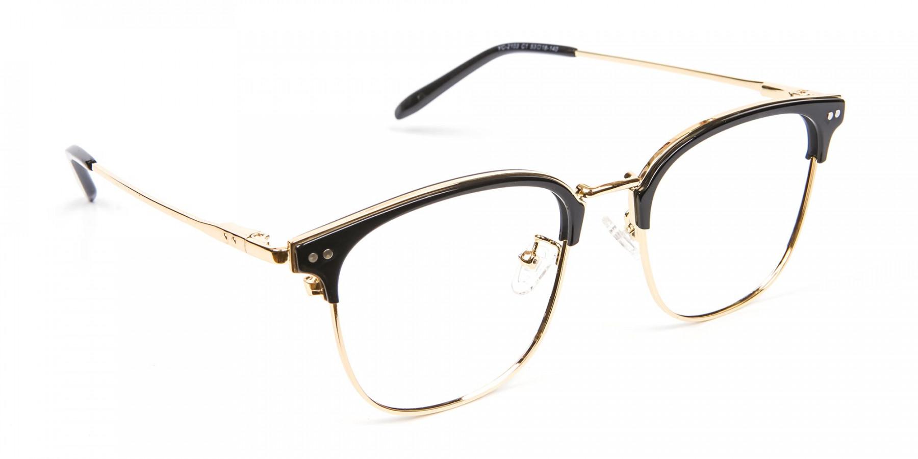 classic square browline frames