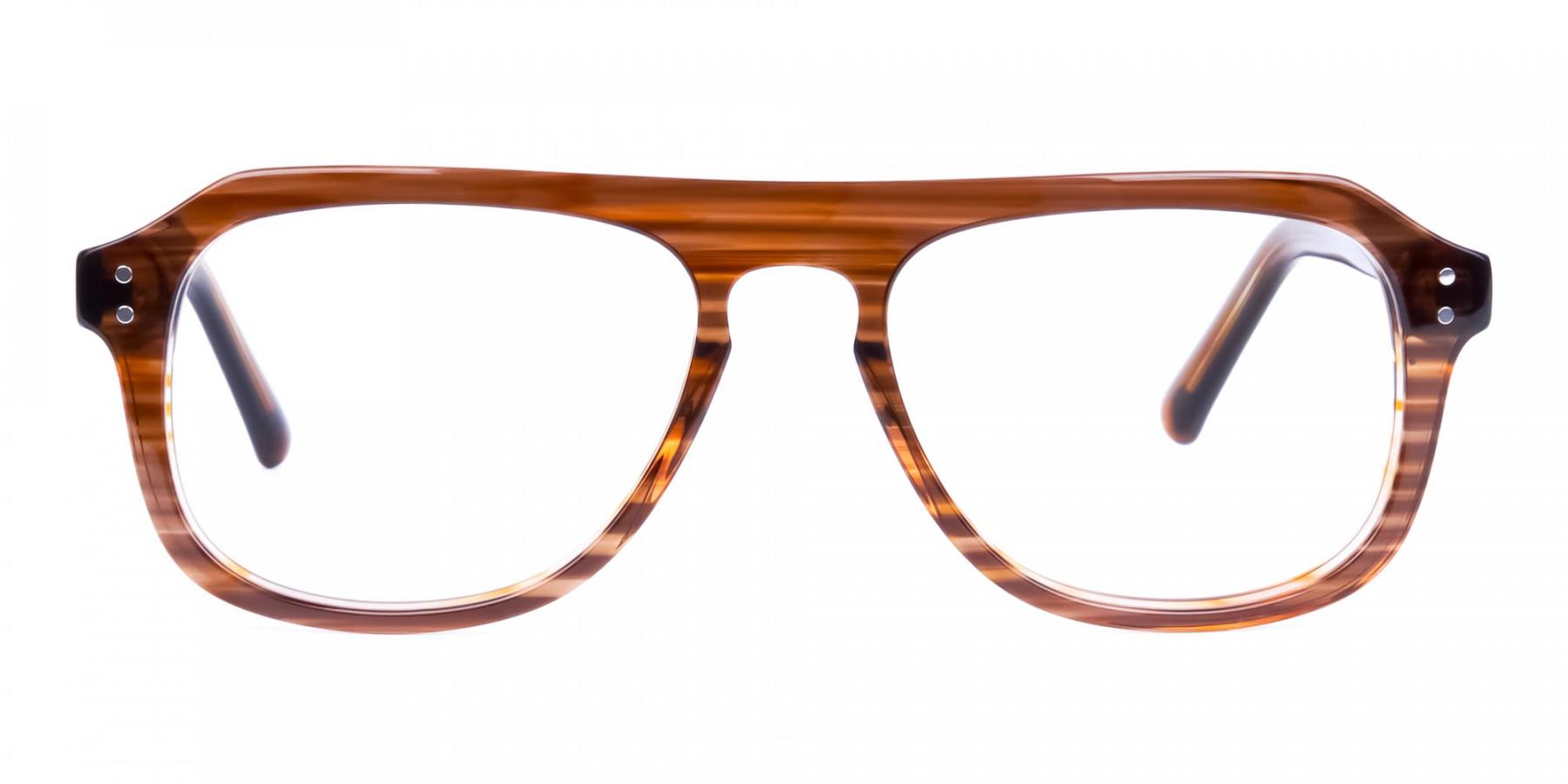 Hazelnut-Brown-Aviator-Glasses-Frame-1
